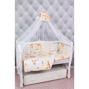 Фотография товара комплект в кроватку AmaroBaby 18 предметов (6+12 подушек-бортиков) Мишка (бежевый) (822324)
