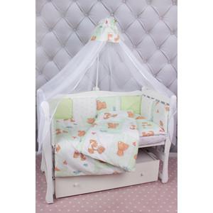 Фотография товара комплект в кроватку AmaroBaby 18 предметов (6+12 подушек-бортиков) Мишка (зеленый) (822326)
