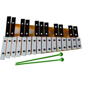 MAREK Металлофон 27 тонов в подарочной упаковке желтый (М05Ж) рамка для фотографий в подарочной упаковке elff ceramics цвет серебряный металлический