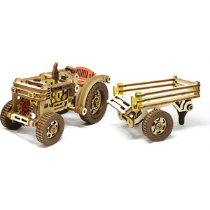 Конструктор M-Wood Трактор с прицепом HARDY (MW-402)