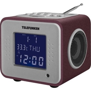 Радиоприемник TELEFUNKEN TF-1575 бордовый радиоприемник telefunken tf 1638u дерево темное