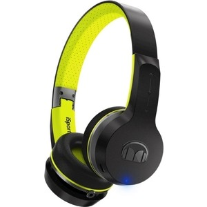 Наушники Monster iSport Freedom V2 Bluetooth black green On-Ear (137097-00) monster black platinum ultimate hdmi 3m 140748 00