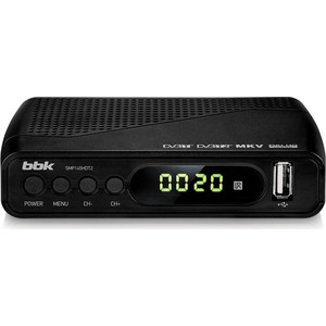 Тюнер DVB-T2 BBK SMP145HDT2 black ресивер dvb t2 bbk smp145hdt2 черный