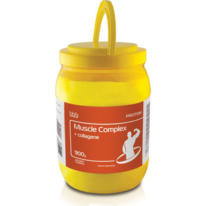 Сывороточно-молочный протеин BBB Muscle Protein Complex (лимон 64% белка и коллаген) 0,9 кг концентрированный кондиционер жизненный протеин artero protein vital 100 мл