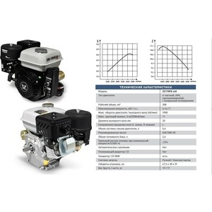 Двигатель  бензиновый ZONGSHEN ZS170FE с генераторной катушкой