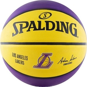 Мяч баскетбольный Spalding NBA Team Los Angeles Lakers р.7 (83-510z) los angeles clippers 2014 2015 hoops basketball nba licensed factory sealed 8 card team set with blake griffin chris paul and more