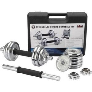 Набор Lite Weights гантельный 15кг (7915LW) набор эспандеров lite weights 1202lw