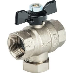 Кран STOUT шаровой с фильтром 3/4 (ручка-бабочка) (SVF 0002 000020) клапан термостатический stout svt 0004 000020 угловой 3 4
