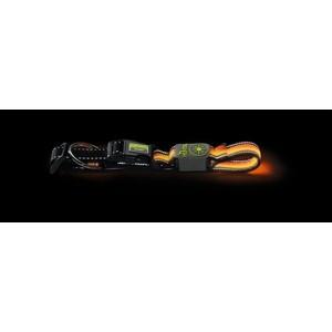Ошейник Hunter LED Manoa Glow L 55-60/2.5 см оранжевый светящийся для собак ошейник hunter collar maui vario plus l 42 65cм сетчатый текстиль оранжевый для собак