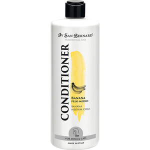 Кондиционер Iv San Bernard Traditional Line Plus Conditioner Banana Medium Coat для шерсти средней длины у животных 500 мл маска iv san bernard fruit of the grommer orange strengthening mask укрепляющая с силиконом для слабой выпадающей шерсти животных 3 л