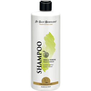 Шампунь Iv San Bernard Traditional Line Plus Shampoo Green Apple Long Coat SLS Free для длинной шерсти животных 500 мл after market merlin plus compatible remote suit c945 940 933 dhl free shipping