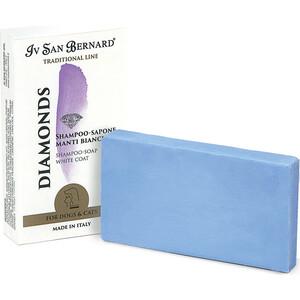 Фотография товара шампунь-мыло Iv San Bernard Traditional Line Diamonds White Coat Shampoo - Soap отбеливание и восстановление яркости окраса шерсти для животных 75 гр (823992)