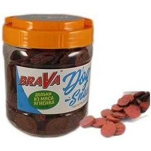 Лакомство BraVa Dog Snacks дольки из мяса ягнёнка для собак 600 г (110691)
