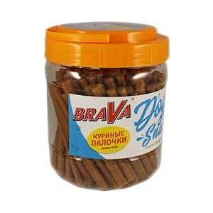 Фотография товара лакомство BraVa Dog Snacks куриные палочки для собак 700 г (110692) (824023)