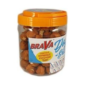Лакомство BraVa Dog Snacks сушёные куриные кусочки для собак 600 г (110696) лакомство brava dog snacks куриные дольки для собак 600 г 110690