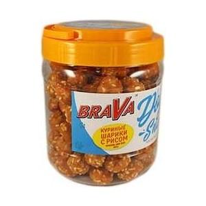 Лакомство BraVa Dog Snacks куриные шарики с рисом для собак 800 г (110697) chewell лакомство для собак всех пород куриные дольки нежные уп 100г