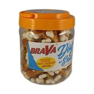 Лакомство BraVa Dog Snacks кальциевая косточка твин с курицей для собак 700 г (110698) smdppwdbb maternity dress maternity photography props long sleeve maternity gown dress mermaid style baby shower dress plus size