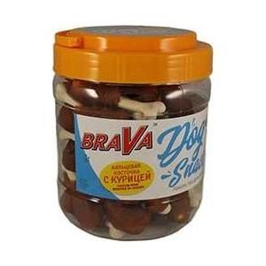 Лакомство BraVa Dog Snacks кальциевая косточка с курицей для собак 700 г (110700) automatic spanish snacks automatic latin fruit machines