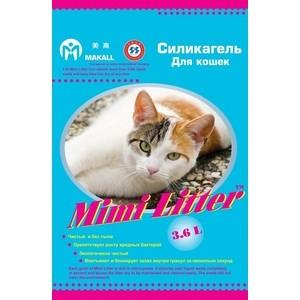 Наполнитель Mimi Litter Силикагель впитывающий для кошек 7.2 л (3.6 кг) (М-7220133) наполнитель n1 crystals впитывающий силикагель для кошек 30л 92208