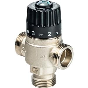 Смесительный клапан STOUT термостатический для систем отопления и ГВС 3/4 НР 30-65°С KV 1.8 (SVM-0025-186520) stout термостатический смесительный клапан для систем отопления и гвс g 1 4 нр 20 43°с kv 1 6