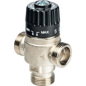Смесительный клапан STOUT термостатический для систем отопления и ГВС 3/4 НР 30-65°С KV 2.3 (SVM-0025-236520) смесительный клапан stout термостатический для систем отопления и гвс 1 нр 20 43°с kv 2 5 svm 0020 254325