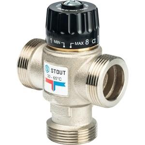 Смесительный клапан STOUT термостатический для систем отопления и ГВС 1 1/4 НР 30-65°С KV 3.5 (SVM-0025-356532) stout термостатический смесительный клапан для систем отопления и гвс g 1 4 нр 20 43°с kv 1 6