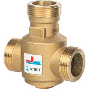 Смесительный клапан STOUT термостатический G 1 1/4 НР 55°С (SVM-0030-325504) смесительный клапан stout термостатический для систем отопления и гвс 1 нр 20 43°с kv 2 5 svm 0020 254325