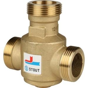 Смесительный клапан STOUT термостатический G 1 1/4 НР 60°С (SVM-0030-325506) смесительный клапан stout термостатический для систем отопления и гвс 1 нр 20 43°с kv 2 5 svm 0020 254325