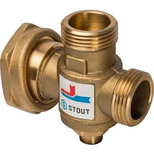 Смесительный клапан STOUT термостатический G 1 ВР G 1 1/2 НР G 1 ВР 70°С (SVM-0050-327007)