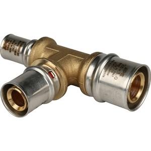 Тройник STOUT переходной 26х20х16 для металлопластиковых труб прессовой (SFP-0005-262016) stout переходник с наружной резьбой 1 2х20 для металлопластиковых труб прессовой