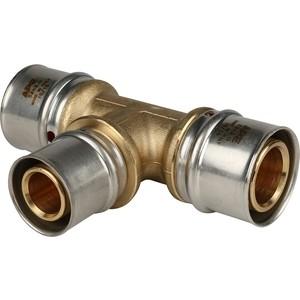 Тройник STOUT переходной 32х26х32 для металлопластиковых труб прессовой (SFP-0005-322632) stout муфта соединительная равнопроходная 26х26 для металлопластиковых труб прессовой