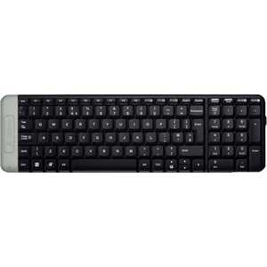 Клавиатура Logitech Wireless Keyboard K230 Black USB (920-003348) 2 4ghz wireless 84 key qwerty russian keyboard remote controller for smart tv mini pc black