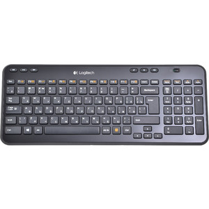 Клавиатура Logitech Wireless Keyboard K360 Black USB (920-003095) 2 4ghz wireless 84 key qwerty russian keyboard remote controller for smart tv mini pc black