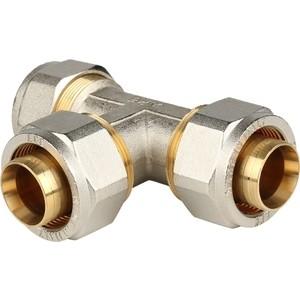Тройник STOUT равнопроходной 32х32х32 для металлопластиковых труб винтовой (SFS-0009-000032) stout муфта соединительная 26х26 для металлопластиковых труб винтовой