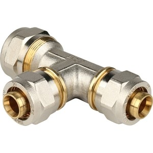 Тройник STOUT переходной 26х20х20 для металлопластиковых труб винтовой (SFS-0010-262020)