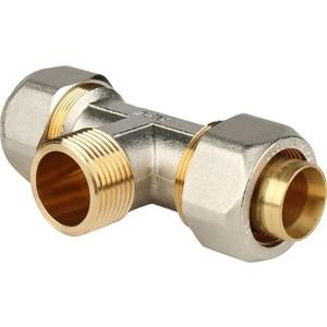Фото - Тройник STOUT переходной с наружной резьбой 1 х 32 для металлопластиковых труб винтовой (SFS-0011-000132) политэк 25x3 4 тройник с наружной резьбой для полипропиленовых труб под сварку цвет белый