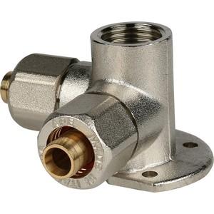 Тройник STOUT настенный с креплением для металлопластиковых труб винтовой (SFS-0014-001216) stout муфта соединительная переходная 26x20 для металлопластиковых труб винтовой