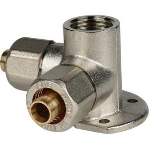 Тройник STOUT настенный с креплением для металлопластиковых труб винтовой (SFS-0014-001220) stout муфта соединительная 26х26 для металлопластиковых труб винтовой