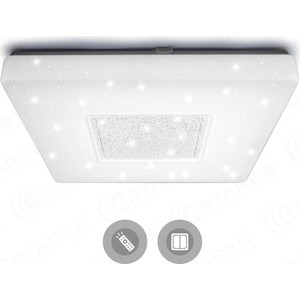 Управляемый светодиодный светильник Estares QUADRON SIYANIE 60W S-550-SHINY/CRISTAL-220V-IP44 4pc lot dr ms07 220v stainless steel dual 60w ultrasonic cleaner machine with display for jewelry glasses circuit board