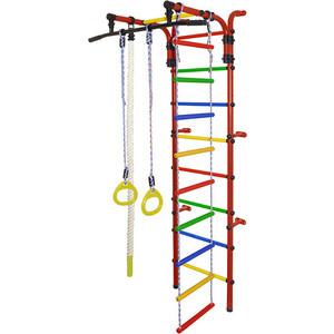 Фотография товара детский спортивный комплекс Формула здоровья Орлёнок-1А ПЛЮС красный/радуга (825562)