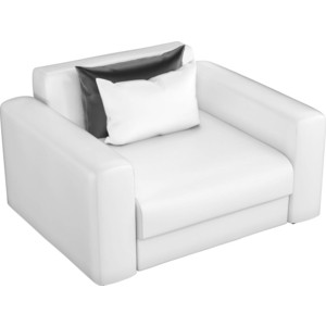 Кресло АртМебель Мэдисон эко-кожа белый цена 2017