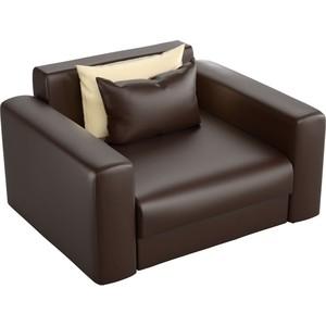 Кресло АртМебель Мэдисон эко-кожа коричневый цена 2017
