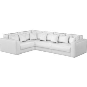 Фотография товара угловой диван АртМебель Мэдисон Long эко-кожа белый левый угол (825624)
