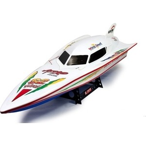 Радиоуправляемый катер Double Horse Racing Boat 40Mhz feilun ft012 upgraded ft009 2 4g brushless rc racing boat red