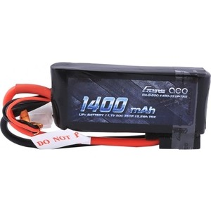 Аккумулятор Gens Li-Po 11.1 V 1400 mAh 50C (3S1P, Deans, EC3, Traxxas, Tamiya) - GA-B-50C-1400-3S1P-XT60 аккумулятор gens li po 14 8 v 2300 mah 45c 4s1p ec3 xt60 deans