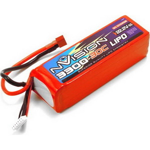 Аккумулятор nVision LiPo 22.2 V 6S 30C 3300 mAh - NVO1816 high quality rechargeable zop power 11 1v 3000mah 30c 3s lipo battery xt60 plug for rc helicopter quadcopter models spare parts