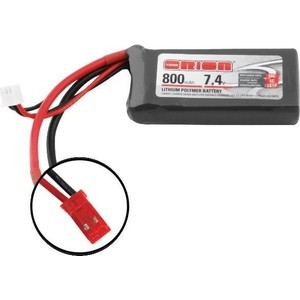 Аккумулятор Team Orion LiPo 7.4 V 2S 50C 800 mAh - ORI60130 2pcs hrb lipo 2s battery 7 4v 3600mah 35c max 70c rc bateria drone akku for helicopter quadcopter car boat airplane