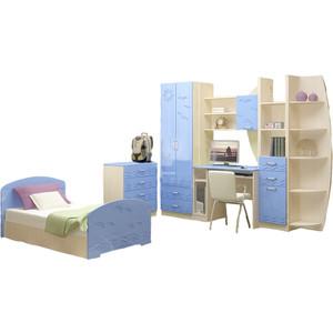 Модульная детская Миф Юниор-2 голубой глянец детская модульная мебель лотос