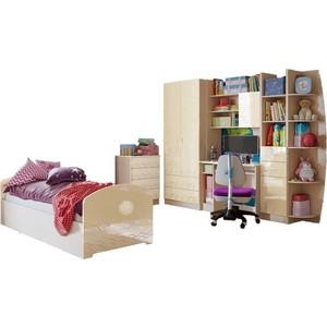Модульная детская Миф Юниор-2 ваниль глянец детская модульная мебель лотос