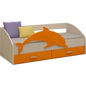 Кровать Регион 58 Дельфин 4 оранжевый МДФ 80x160 свитшот print bar мотобратство 80 регион